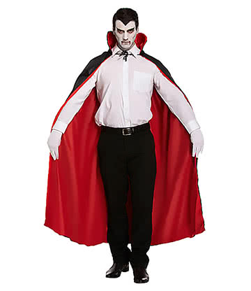 Blue Banana Reversible Cape Fancy Dress Costume (Red/Black)