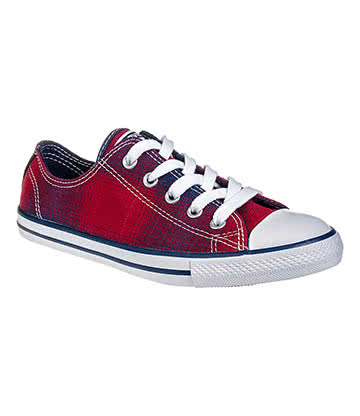 Converse All Star Dainty Plaid Shoe (Chili/Night)