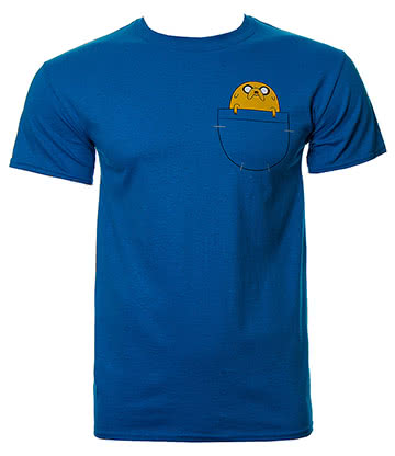 Adventure Time Jake Pocket T Shirt (Blue)