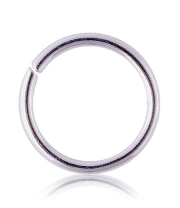 Blue Banana Seamless Silver Ring (0.8mm x 8mm)