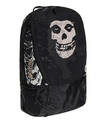 Official Misfits Skull Logo Backpack (Black/White)