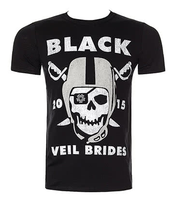 Official Black Veil Brides Marauders T Shirt (Black)