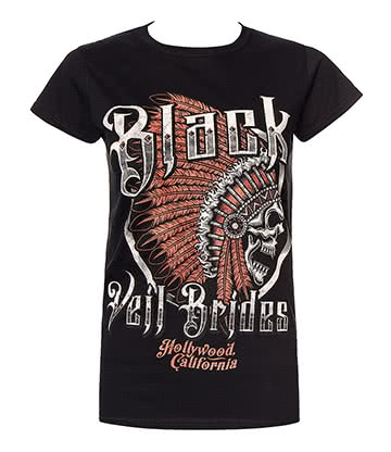 Official Black Veil Brides Chieftain Skinny T Shirt (Black)