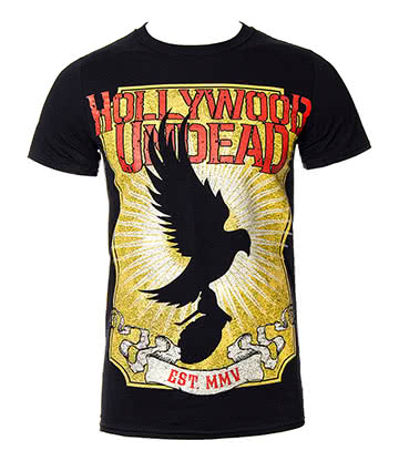 Official Hollywood Undead Dove T Shirt (Black)