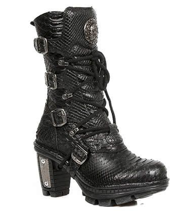 New Rock Style M.NEOTR005-S19 Boots (Dragonscale Black)