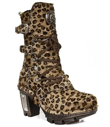 New Rock Style M.NEOTR005-S26 Boot (Leopard)