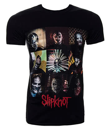 Official Slipknot Blocks T Shirt (Black)