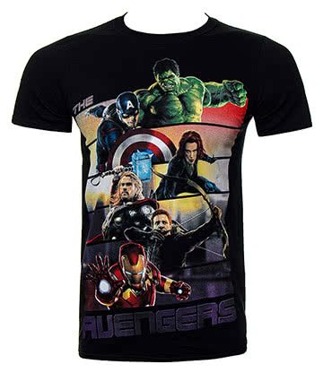 Marvel Avengers Bars T Shirt (Black)