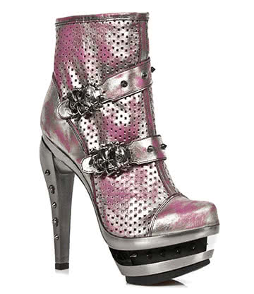 New Rock M.ROCK217-S2 High Heel Boots (Pink)