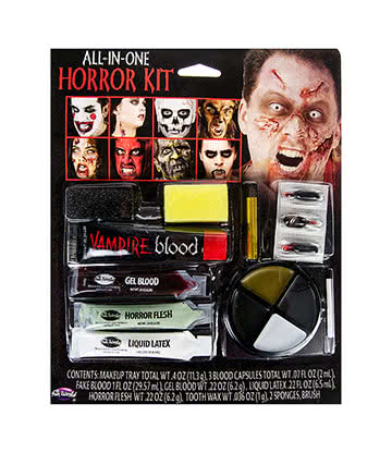 Blue Banana Kit Tout En Un Maquillage Halloween - Horreur (Multicolore)