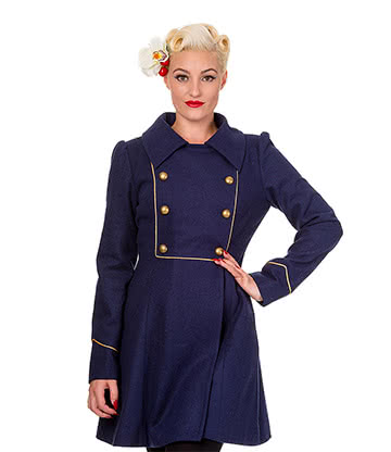 Banned Into The Night Coat (Navy)