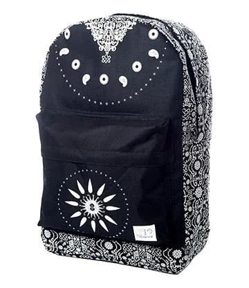 Spiral Bandana OG Backpack (Black/White)
