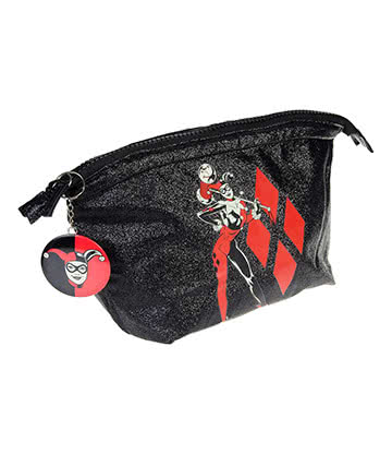 DC Comics Harley Quinn Wash Bag (Black)