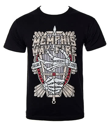 Official Memphis May Fire Coffin T Shirt (Black)