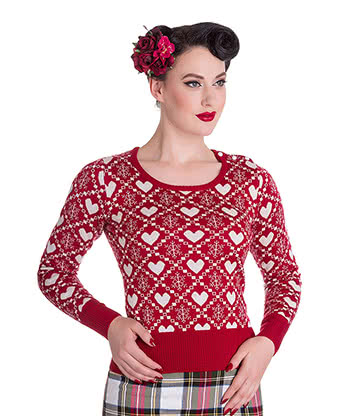 Hell Bunny Aurora Jumper (Red)