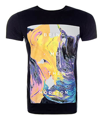Official Bring Me The Horizon Painted T Shirt (Black)