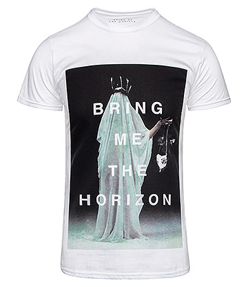 Official Bring Me The Horizon Cloaked T Shirt (White)