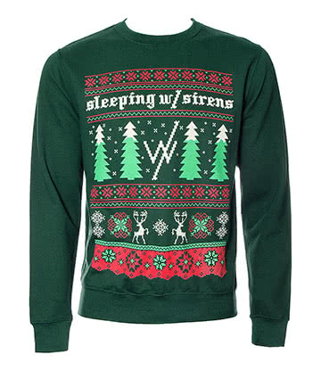 Official Sleeping With Sirens Christmas Jumper (Green)