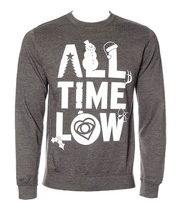 Official All Time Low Christmas Jumper (Grey)