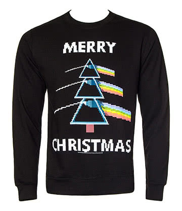 Official Pink Floyd Dark Side Of The Moon Christmas Jumper (Black)