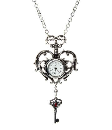 Alchemy Gothic Temp De Sentiment Fob Watch Pendant (Pewter)