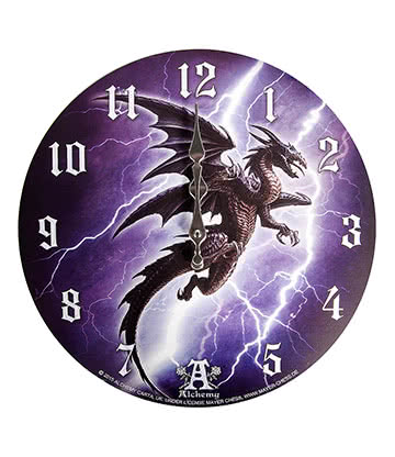 Alchemy Gothic Lightning Dragon Clock