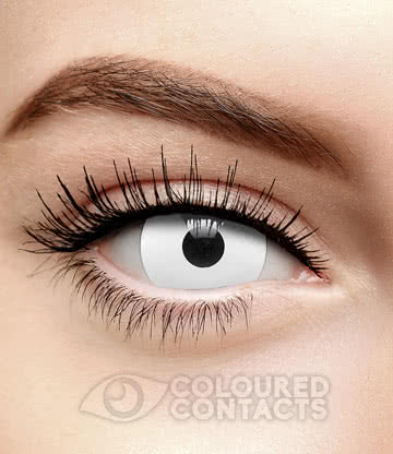 Mini Sclera Zombie Effect Halloween 1 Day Coloured Contact Lenses (White)