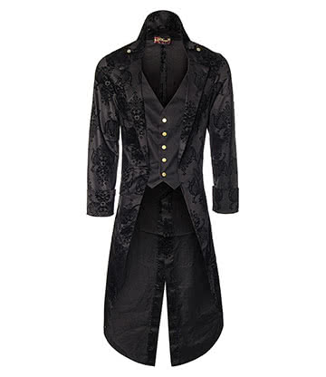 Phaze Kiara Grim Long Coat (Black)
