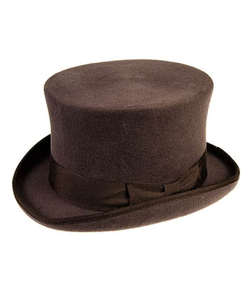 Major Wear Classic Chapeau Haut De Forme Elégant (Marron)