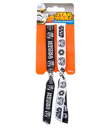 Star Wars Empire Festival Wristbands (White/Black)