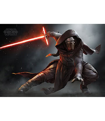 Star Wars Episode VII Kylo Ren Crouch Poster (Black)