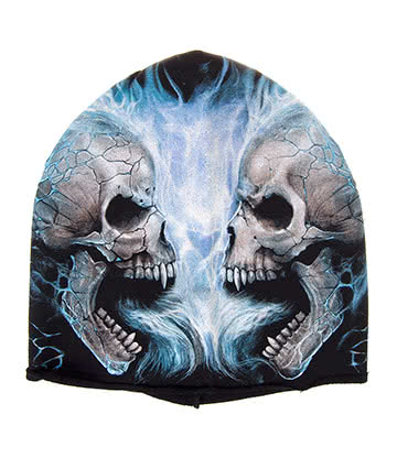 Spiral Direct Flaming Spine Beanie (Black/Blue)