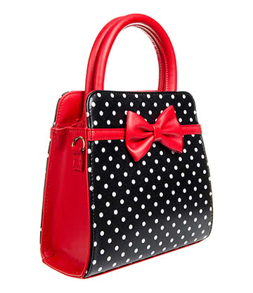 Banned Carla Handbag (Red/Black)