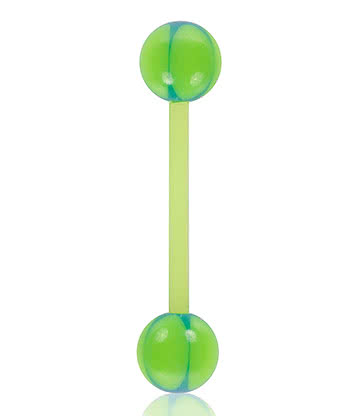 Blue Banana Acrylic 1.6mm UV Bendy Bar (Green/Blue)