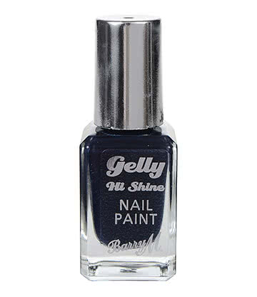 Barry M Gelly Hi Shine Grape Nail Paint 10ml (Dark Purple)