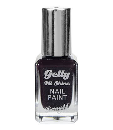 Barry M Gelly Hi Shine Black Currant Nail Paint 10ml (Purple)