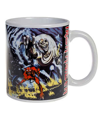 Official Iron Maiden Beast Mug (White)