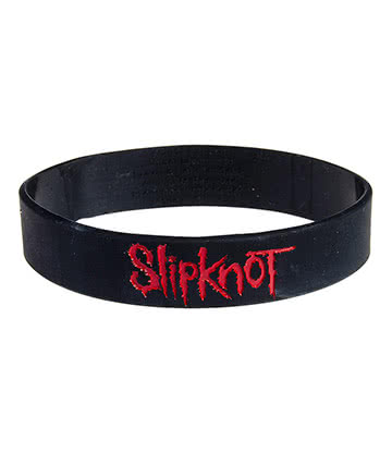 Official Slipknot Logo Wristband (Black/Red)