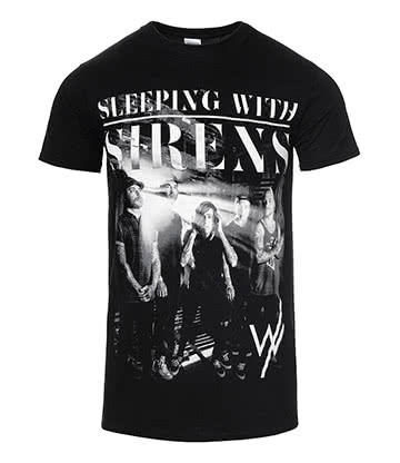Official Sleeping With Sirens Band Photo T Shirt (Black)