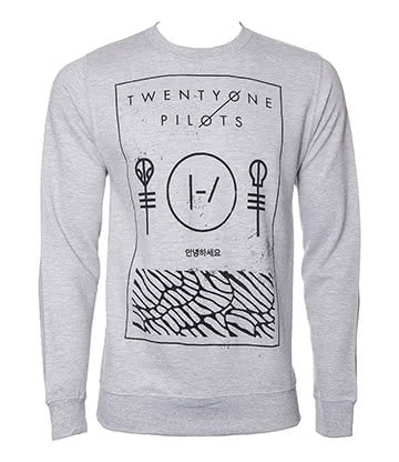 Official Twenty One Pilots Thin Line Box Sweatshirt (Grey)