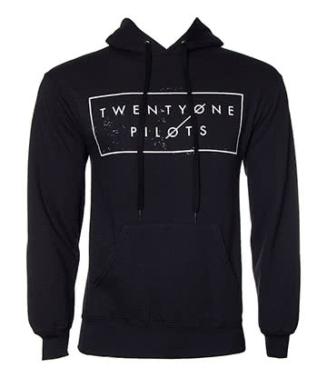 Official Twenty One Pilots Thin Line Box Hoodie (Black)