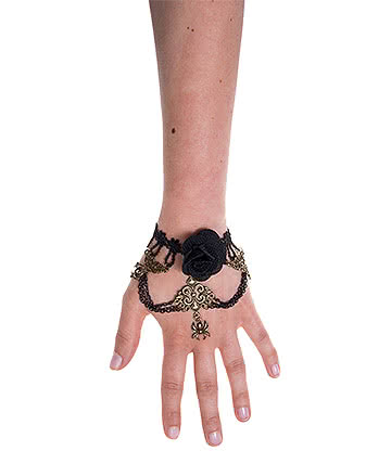 Lace Black Rose Arm Band