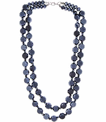 Facets Glass Bead Necklace
