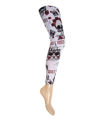 Official Guns N' Roses Skull Leggings (White)