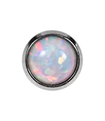 Blue Banana Surgical Steel 4mm Dermal Top (Opal)