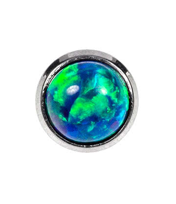 Blue Banana Opal Microdermal (Dark Green)