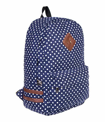Blue Banana Polka Dot Backpack (Blue/White)