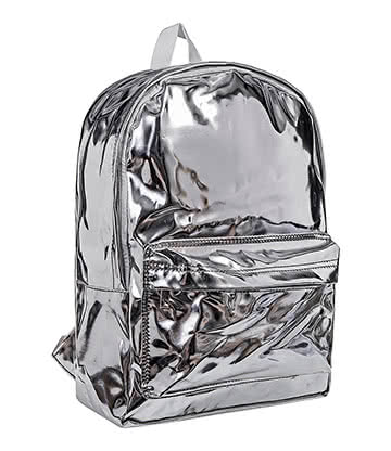 Blue Banana Hologram Backpack (Silver)