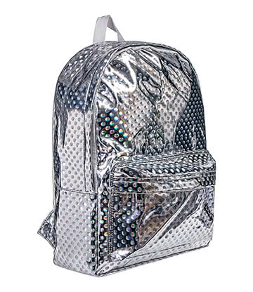 Blue Banana Hologram Spot Backpack (Silver)