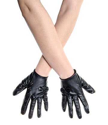 Short Bow & Cut Out Gloves (Black)